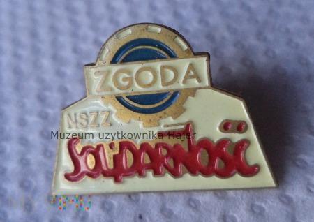 NSZZ Solidarność Zgoda - odznaka