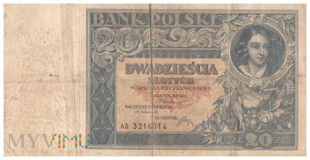 Polska - 20 złotych (1931)