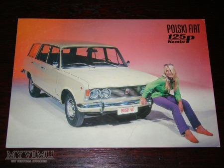 Prospekt POLSKI FIAT 125p KOMBI