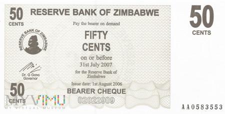 Zimbabwe - 50 centów (2006)