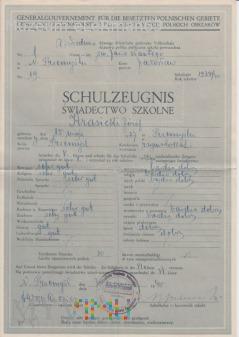 Świadectwa szkolne za 39/40/41 Deutsch Przemyśl