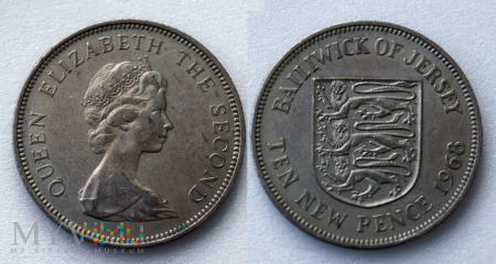 Jersey, 10 New Pence 1968