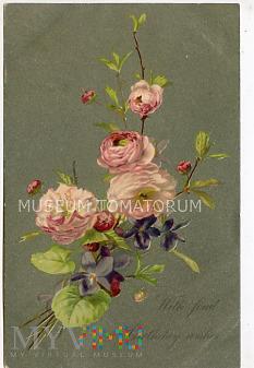 Pocztówka urodzinowa - 1907