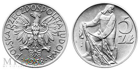 5 złotych, 1958, moneta obiegowa