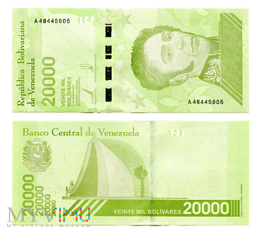 20 000 Bolívares Soberano 2019 (A 48445905)