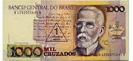 1000 Cruzeiros - BRAZYLIA