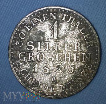 1 Silber Groschen 1825