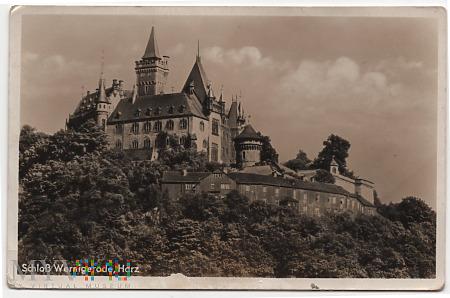 Zamek Wernigerode,w górach Harz.a