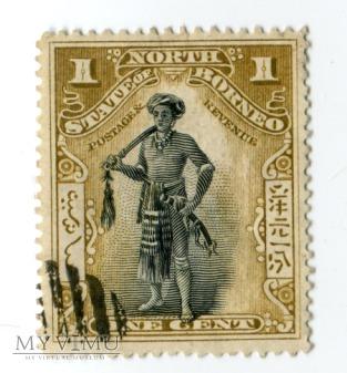 Borneo Północne znaczek North Borneo mieszkaniec