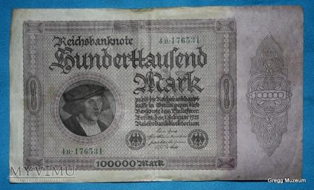 100000 Mark 1923