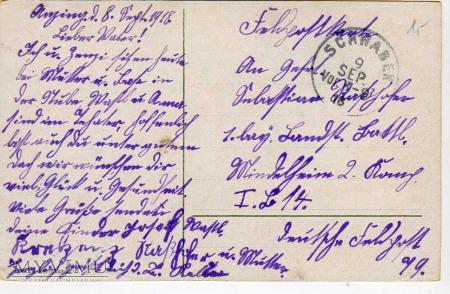 Pocztówka okolicznosciowa 1918