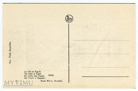 Antoine Wiertz Ucieczka do Egiptu pocztówka