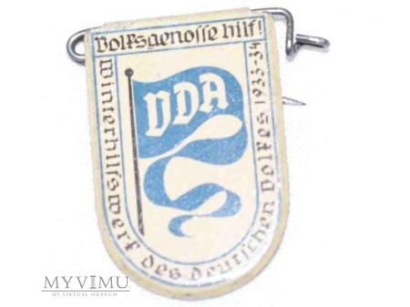 Duże zdjęcie Odznaka VDA WHW Wimpel 23 luty 1934