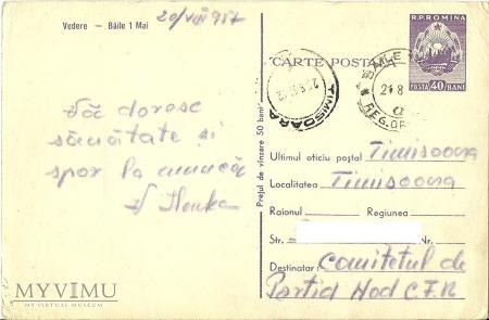 1 MAJA Baile - Rumunia - 1957 r.