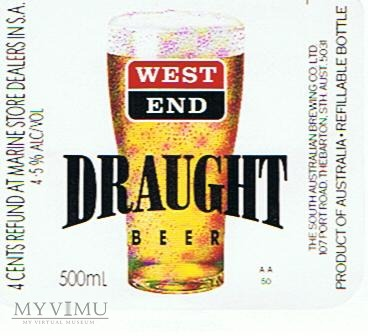west end draught beer