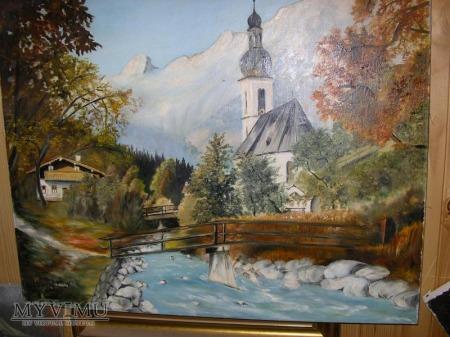 Stary koścółek obraz niemiecki