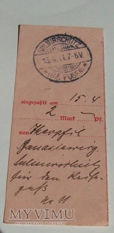 SULMIRSCHÜTZ - SULMIERZYCE 1911