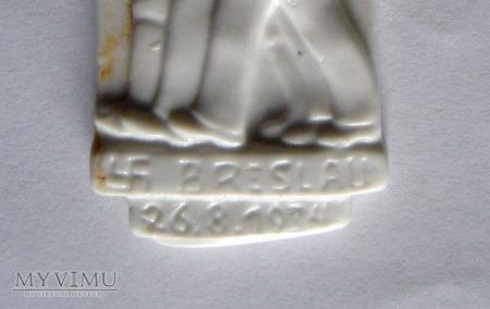 Wrocław Breslau plakietka porcelanowa RAD