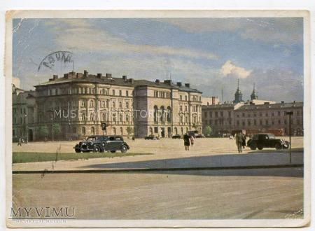 Duże zdjęcie W-wa - Plac Saski - Sąd Wojskowy - 1942 ok.