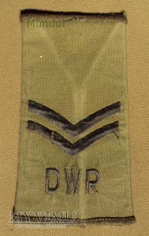 Wieka Brytania - oznaka stopnia: kapral DWR