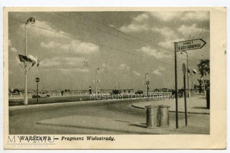 W-wa - Wisłostrada przy moście Śl.-Dąbr. 1950