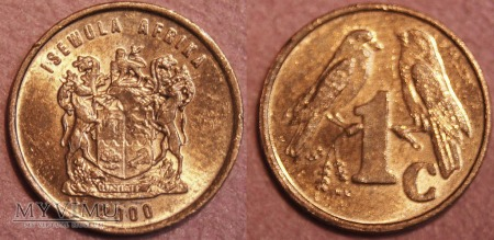 South Africa, 1 cent 2000