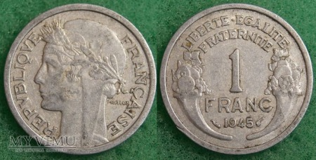 Francja, 1 FRANC 1945
