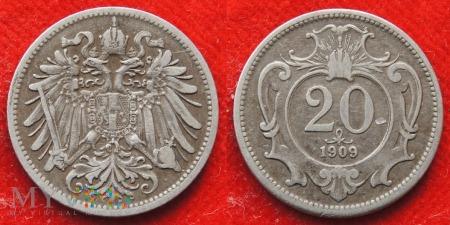 Austria, 20 heller 1909