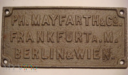 PH.MAYFARTH & Co FRANKFURTa.M. BERLIN & WIEN.