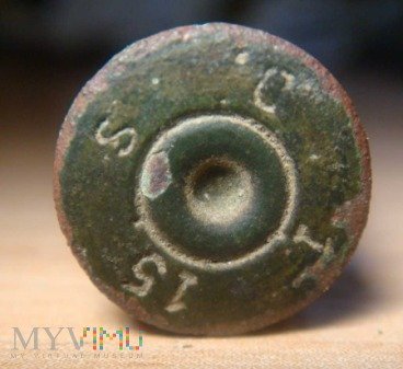 elaborowana łuska Mauser 7,92x57 z roku 1915.