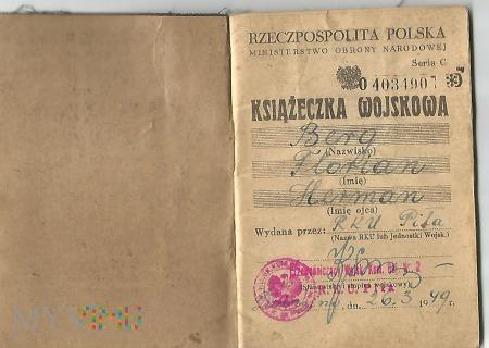 Książeczka wojskowa 1949