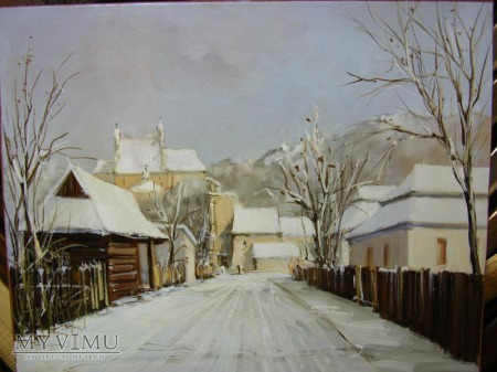 Zima w Kazimierzu Dolnym - olej
