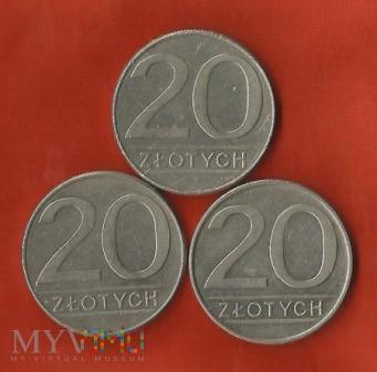 Polska 20 złotych, 1986/1987/1988