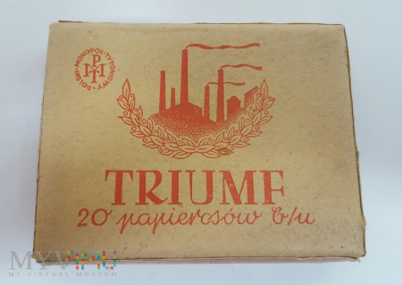 Papierosy TRIUMF 20 szt. 1936 r. PMT