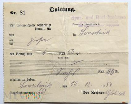 Quittung Lonschnik 1934 2