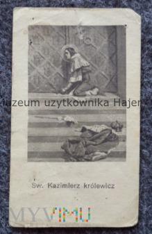 Duże zdjęcie Święty Kazimierz królewicz - stary święty obrazek