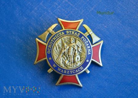 Odznaka pamiątkowa OSP w Warzycach oficjalna