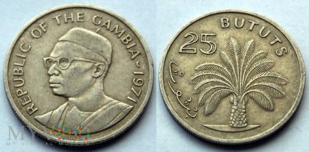 Gambia, 25 BUTUTS 1971