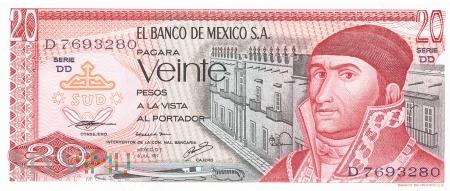 Meksyk - 20 pesos (1977)