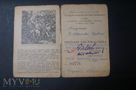 Legitymacja i OG dla Marynarza - 1 lipiec 1946