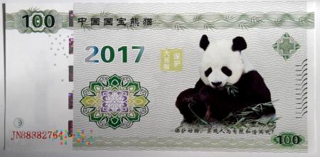 Panda 2017, nominał 100 (III)
