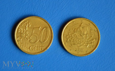 Moneta: 50 euro cent Włochy