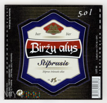 Birzu alus, Striprusis