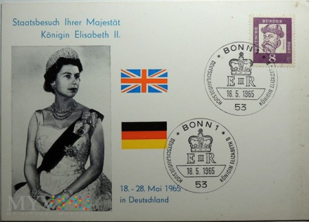 Niemcy Elżbieta II 1965 Bonn