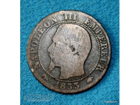 Duże zdjęcie 5 Centimes NAPOLEON III 1853