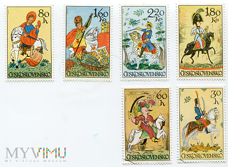 Czechosłowacja 1972 Wojska Konne znaczki