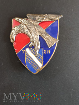 Pamiątkowa odznaka 7 Pułku Artylerii - Francja/1