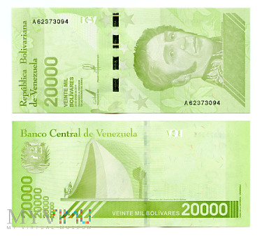 20 000 Bolívares Soberano 2019 (A 62373094)