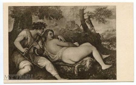 Tycjan - Nimfa i pasterz