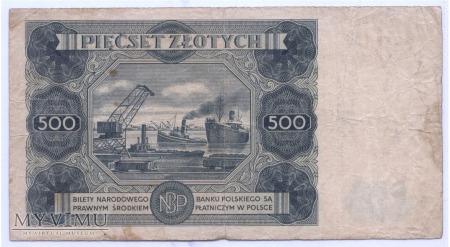 500 złotych - 1947.